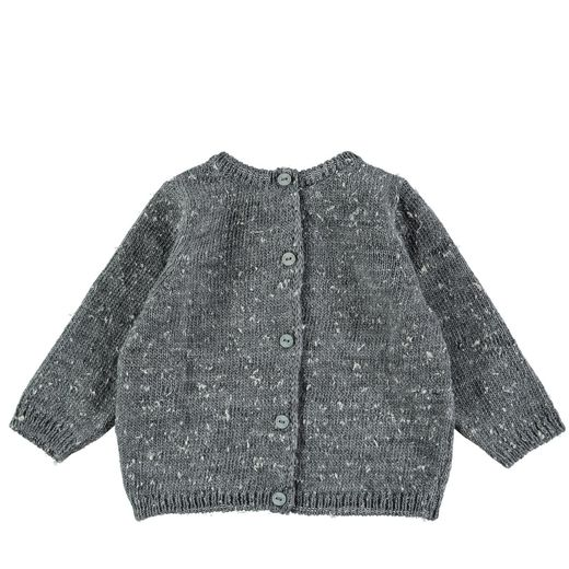 Mini Sibling - Knit Reversable Sweater-Cardigan, grey
