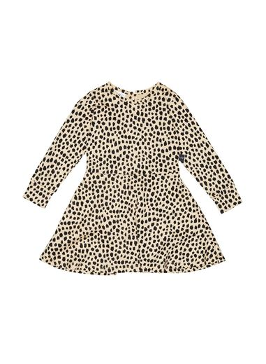 Huxbaby - Leopard Skater Dress, oyster