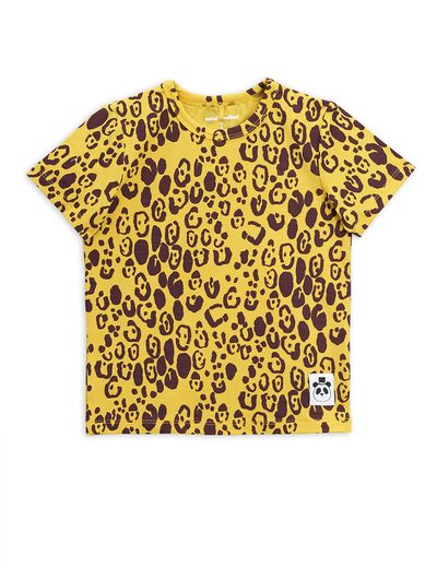 Mini Rodini - Leopard ss tee, yellow