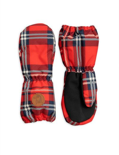 Alaska check glove, red