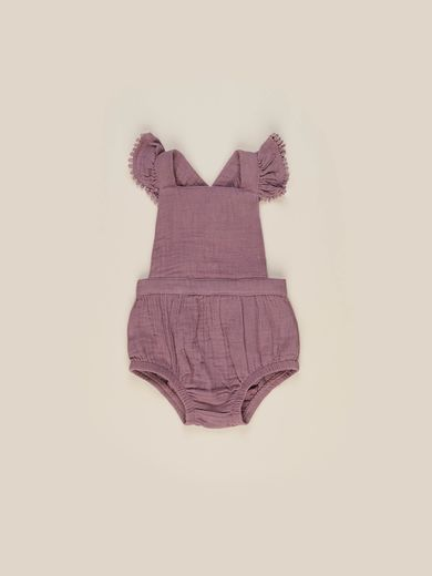 Huxbaby - Mulberry Frill Playsuit