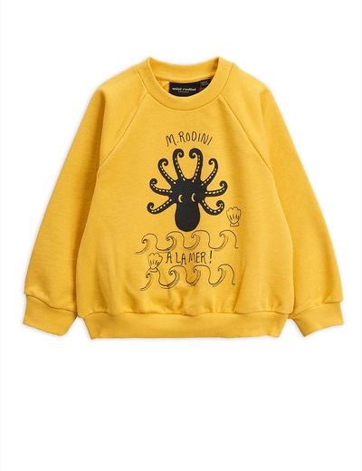Mini Rodini - Octopus SP sweatshirt, yellow