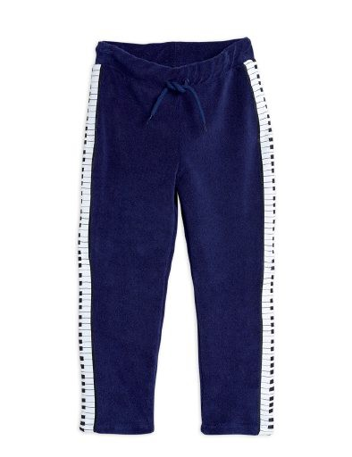 Mini Rodini - Piano terry trousers, navy