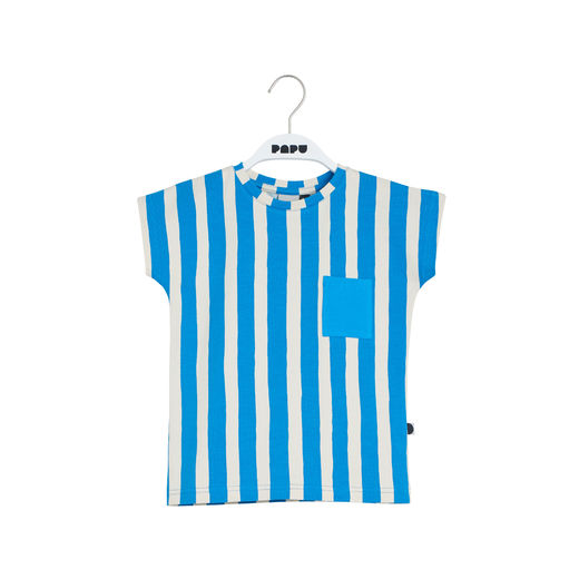 Papu - POCKET T-TOP, sky blue, black