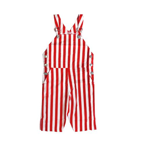 Overalls Red/White stripe