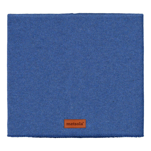 METSOLA - Knitted RIB Tube Scarf, Dark Denim