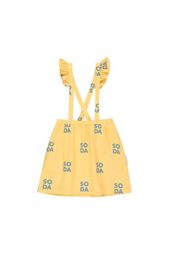 Tinycottons - 'SODA' FRILLS & BRACES SKIRT  canary/sea grey