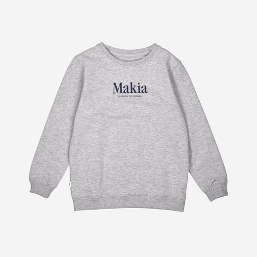 Makia - Strait Sweatshirt, Light Grey