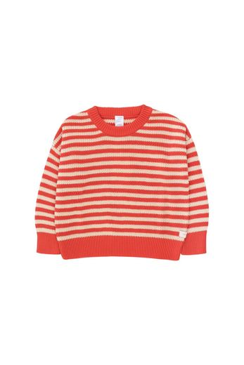 Tinycottons - STRIPES SWEATER  cream/red