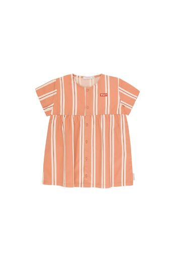 Tinycottons - 'RETRO STRIPES' SS DRESS terracotta/cream