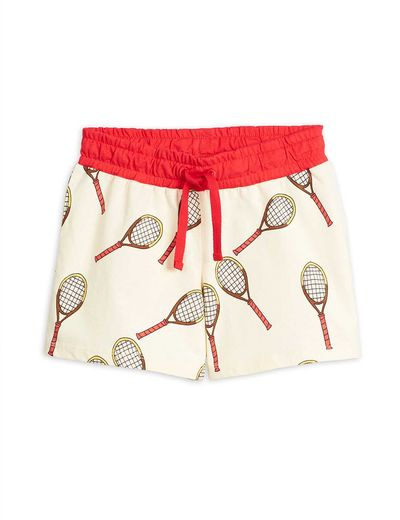 Mini Rodini - Tennis aop shorts, white