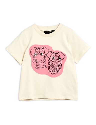 Mini Rodini - Terrier sp tee, Offwhite
