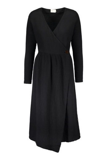 Kaiko - Wrap midi dress, black